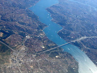 Istanbul and the Bosphorus from the air