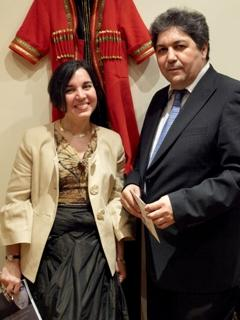 Ziba Norman with Annakuly Nurmammedov, author and scholar, former Ambassador of Turkmenistan to the Republic of Turkey.