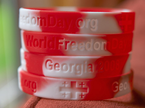 World Freedom Day silicon wristbands Georgia 2008